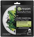 Garnier Pure Charcoal Tisztító és Hidratáló Textil Maszk Tág Pórusokra, Fekete Alga Kivonattal
