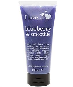I Love... Blueberry & Smoothie Bőrradíros Tusfürdő