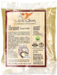 Le Erbe Di Janas Henna Hideg Vörös