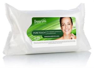 HappySkin Pure Touch 2in1 Hidratáló Sminklemosó Arctisztító Kendő