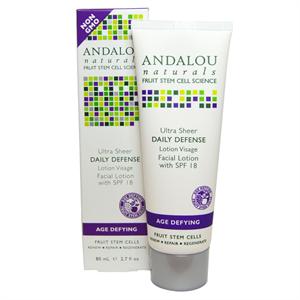 Andalou Naturals Age Defying Ultra Sheer Daily Defense Facial Lotion With SPF 18