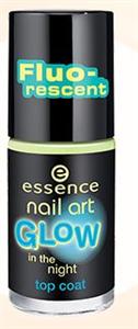 Essence Nail Art Glow Világító Fedőlakk