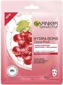 Garnier Hydra Bomb Szuperhidratáló+Simító+Feltöltő Fátyolmaszk Szőlőmaggal És Hialuronsavval