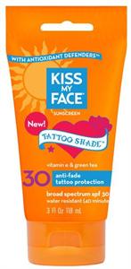 Kiss My Face Tattoo Shade Sunscreen Lotion SPF30