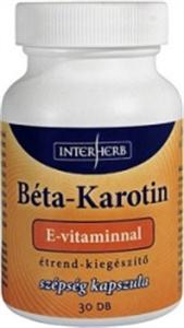 Interherb Béta-Karotin Szépség Kapszula E-Vitaminnal