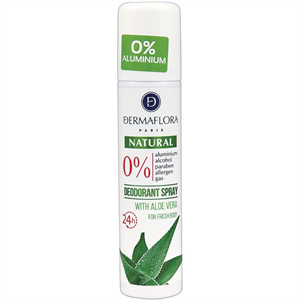 Dermaflora Natural Deodorant Spray Aloe Verával