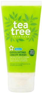 Superdrug Tea Tree Exfoliating Cream Tusfürdő