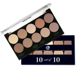 W7 10 Out Of 10 Eyeshadow Palette - Browns
