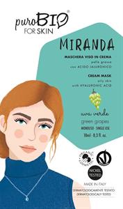 PuroBIO Cosmetics Miranda Krém Arcmaszk Zöld Szőlővel