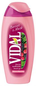 Vidal Berries & Musk Élénkítő Tusfürdő