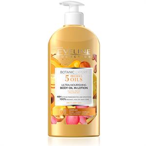 Eveline Cosmetics Botanic Expert 5 Értékes Olaj Ultra-Tápláló Testápoló