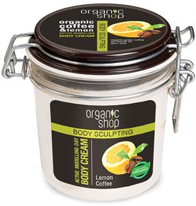 Organic Shop Frissítő Kávé Testformáló Krém Bio Kávé és Citrom Kivonattal