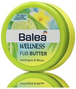 Balea Wellness Lábápoló Vaj  Citromfű és Menta