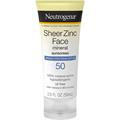 Neutrogena Sheer Zinc Face Dry-Touch Sunscreen Broad Spectrum SPF50