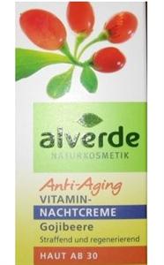 Alverde Anti-Aging Vitamin Nachtcreme Gojibeere