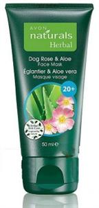 Avon Vadrózsa és Aloe Frissítő és Bőrnyugtató Arcmaszk