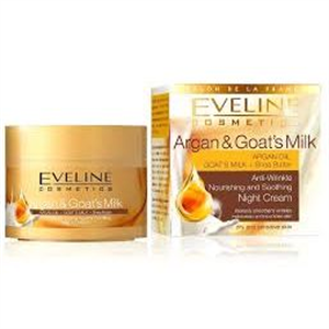 Eveline Cosmetics Argán Olaj és Kecsketej Éjszakai Krém