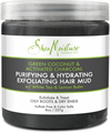 Shea Moisture  Green Coconut & Activated Charcoal Purifying & Hydrating Exfoliating Hair Mud