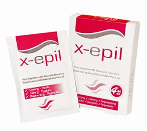 X-Epil Gyantázás Utáni Törlőkendő Aloe Veraval