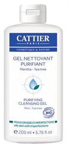Cattier Bio Bőrkiegyensúlyozó Lemosó Gél Teafa és Menta Illóolajjal