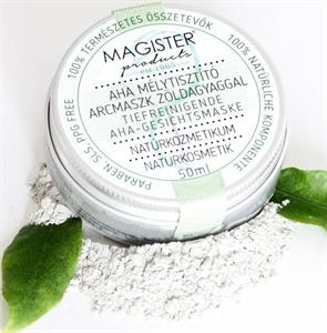 Magister Products AHA Mélytisztító Arcmaszk Zöldagyaggal