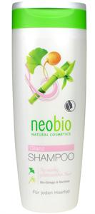 Neobio Selyemfény Sampon Bio Ginkgo és Bambusz Kivonattal