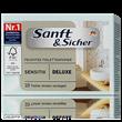 Sanft & Sicher Sensitiv Deluxe Nedves Toalettpapír