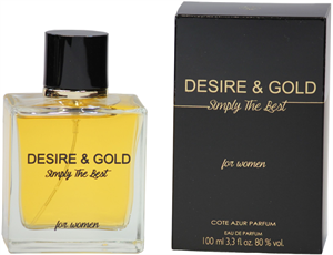 Cote d'Azur Desire & Gold Simply the Best EDP