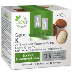 AA Sensitive Nature Cupuacu 40+Ránctalanító, Regeneráló Éjszakai Krém