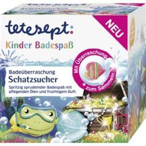 Tetesept Kinder Badespaß Pezsgő Fürdőlabda Meglepetéssel