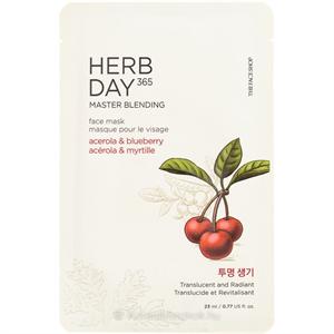 Thefaceshop Herb Day 365 Master Blending Face Mask - Acerola & Blueberry