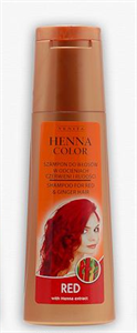 Henna Color Sampon Vörös Hajra