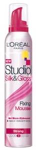 L'Oreal StudioLine Silk&Gloss Strong Dúsító Hajhab