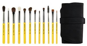 Bdellium Tools Travel Eyes 12pc. Brush Set With Roll-Up Pouch