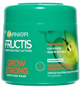 Garnier Fructis Grow Strong Hajpakolás Gyenge, Töredezésre Hajlamos Hajra