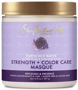 Shea Moisture Purple Rice Water Hajerősítő és Színvédő Hajmaszk