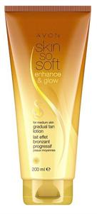 Avon Skin So Soft Csillogó Testápoló Lotion SPF15 Enyhén Barna Bőrtípusra