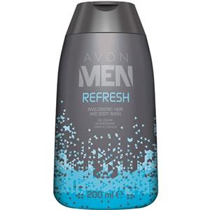 Avon Men Refresh Energizáló Sampon és Tusfürdő
