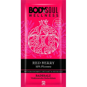 Body&Soul Wellness Piros Bogyós Gyümölcsök Fürdősó