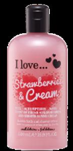 I Love... Strawberries & Cream Hab- és Tusfürdő