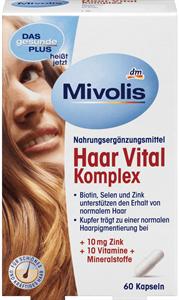 Mivolis Haar Vital Komplex Étrend-kiegészítő Kapszula, Vitaminokkal és Ásványi Anyagokkal
