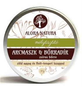 Alora Natura Mélytisztító Arcmaszk és Bőrradír Zsíros Bőrre