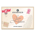 Essence Love Letters Powder Papers Mattítólapok