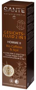 Sante Homme II 2 in 1 Hidratáló Szérum Férfiaknak Koffeinnel és Akai Bogyóval
