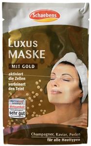 Schaebens Luxus Maszk Arannyal