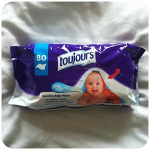 Toujours Baby Wipes Sensitive Popsitörlő