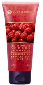 Yves Rocher Fruits Noirs Piros Gyümölcs Radírozó Hatású Tusfürdő