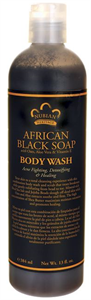 Nubian Heritage Afrikai Fekete Szappan Tusfürdő