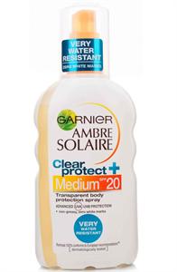 Garnier Ambre Solaire Clear Protect Vízálló Napozó Spray SPF20