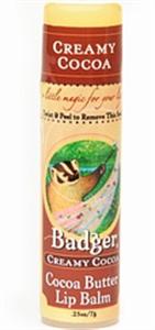 Badger Balm Creamy Cocoa Cocoa Butter Lip Balm